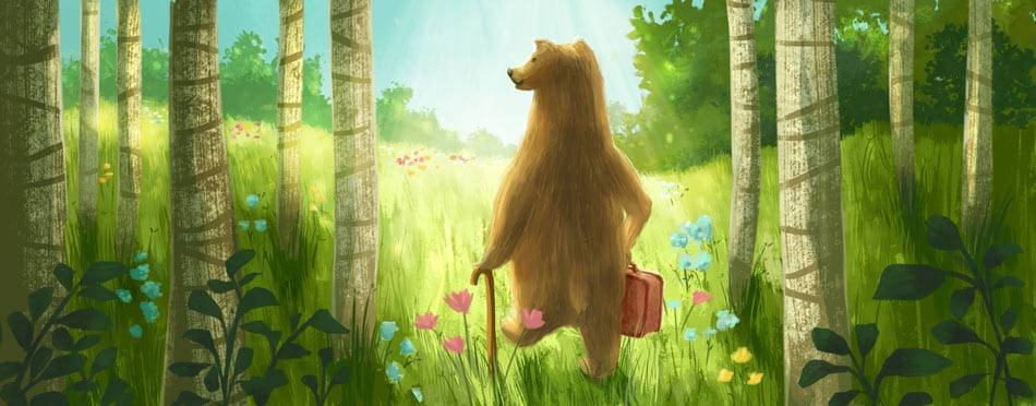 friendly bear illustration by stephanie dehennin